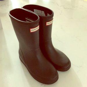 Kids size 11 Hunter Boots Black